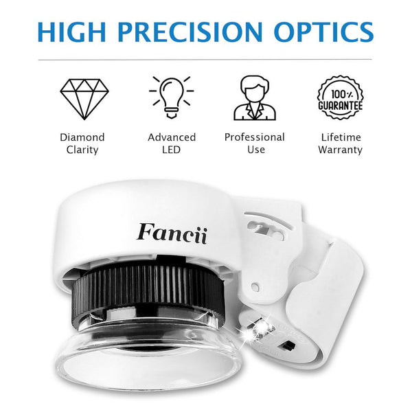 LED Illuminated 30X Triplet Jewelers Loupe - ShopFancii.com