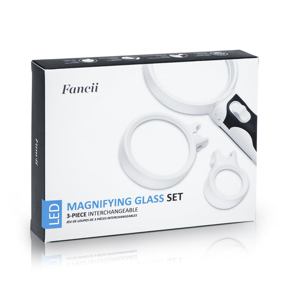 ProPower LED Magnifying Glass Set, 2x 3.5x 10x - ShopFancii.com