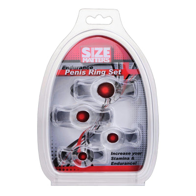 Size Matters Endurance Penis Ring Set - Clear
