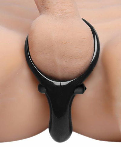 The Mystic Vibrating Cock Ring with Taint Stimulator