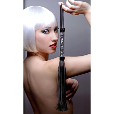 Platinum Bound Flogged Embossed Metallic Flogger