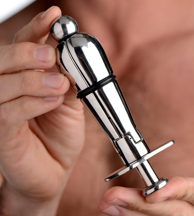 Stainless Steel Locking Anal Plug