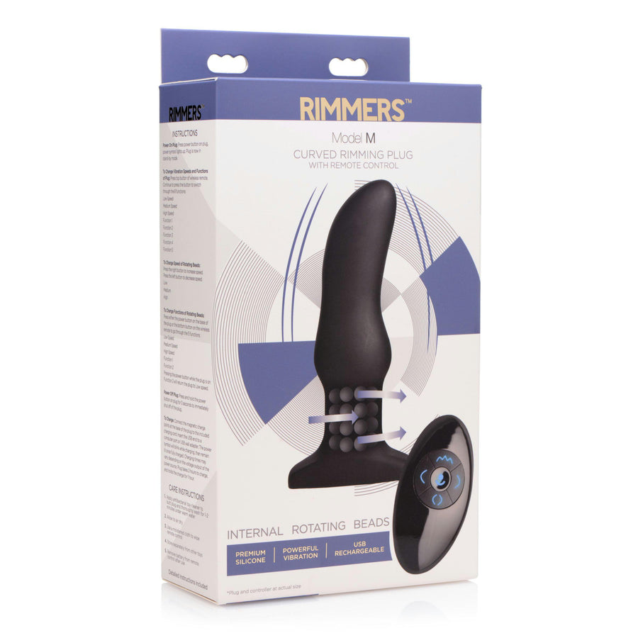Rimmers Model M Curved Rimming Plug with Remote