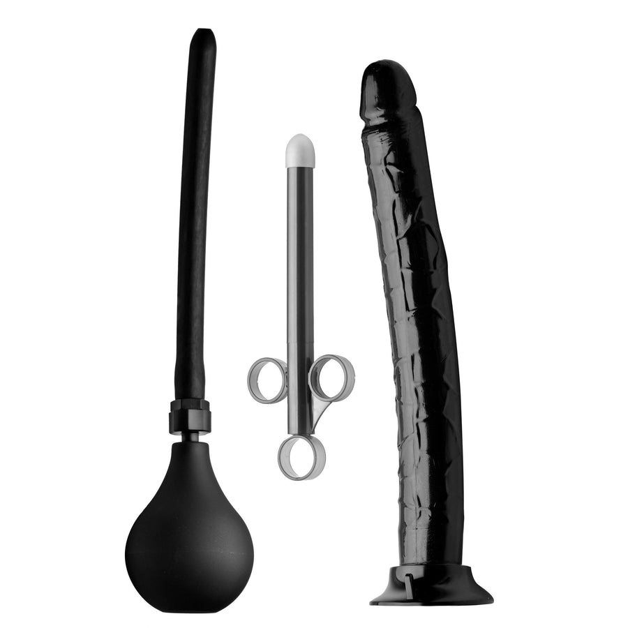 Go Deep Anal Cleansing Kit with Huge Dildo
