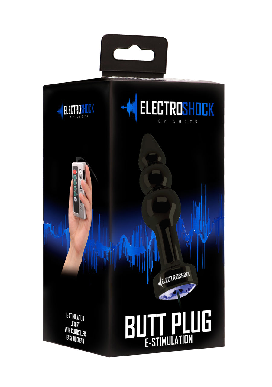 Ribbed Butt Plug E-Stimulation