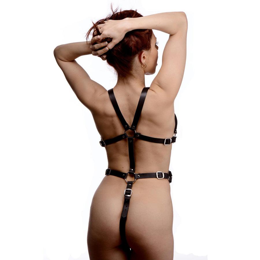 Womens Leather Body Harness