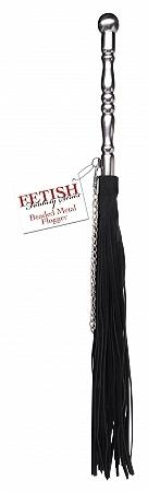 Beaded Metal Flogger