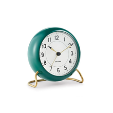 Load image into Gallery viewer, Arne Jacobsen  Station Alarm Clock - Racing Green
