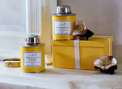 Bellocq Afternoon Collection Yellow Traveler Caddy Set