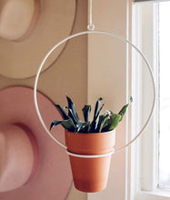 "Load image into Gallery viewer, NewMade LA - Hanging Circle Planter 10"",White"