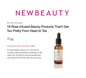 Savor Beauty-Glow Carrot Rose Serum