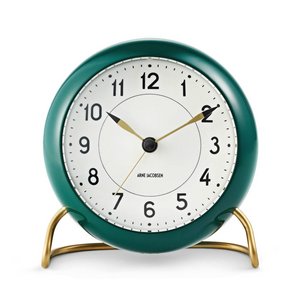 Arne Jacobsen  Station Alarm Clock - Racing Green