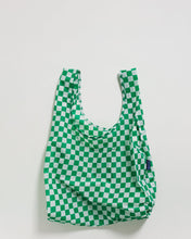 Load image into Gallery viewer, Standard Baggu Green Checkerbord