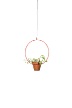 "Load image into Gallery viewer, NewMade LA - Hanging Circle Planter 10"",Red"