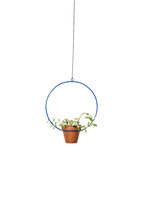 "Load image into Gallery viewer, NewMade LA - Hanging Circle Planter 10"",Blue"