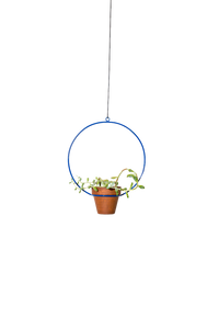 "NewMade LA - Hanging Circle Planter 10"",Blue"