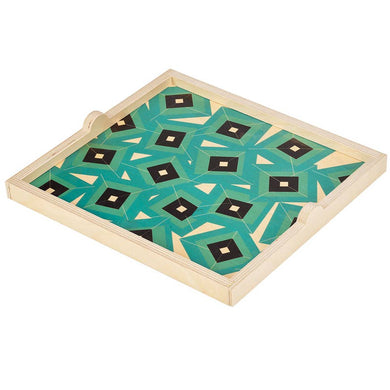 Wolfum Studio-Alma Teal Square Tray