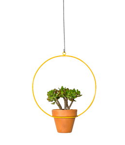 "NewMade LA - Hanging Circle Planter 10"",Yellow"