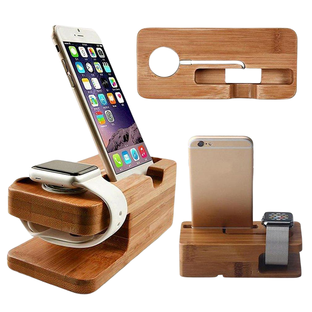 2 IN 1 BAMBOO CHARGING STATION - fenniamore-lifestyle