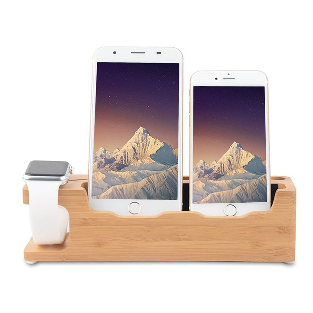 3 IN 1 BAMBOO CHARGING STATION - fenniamore-lifestyle