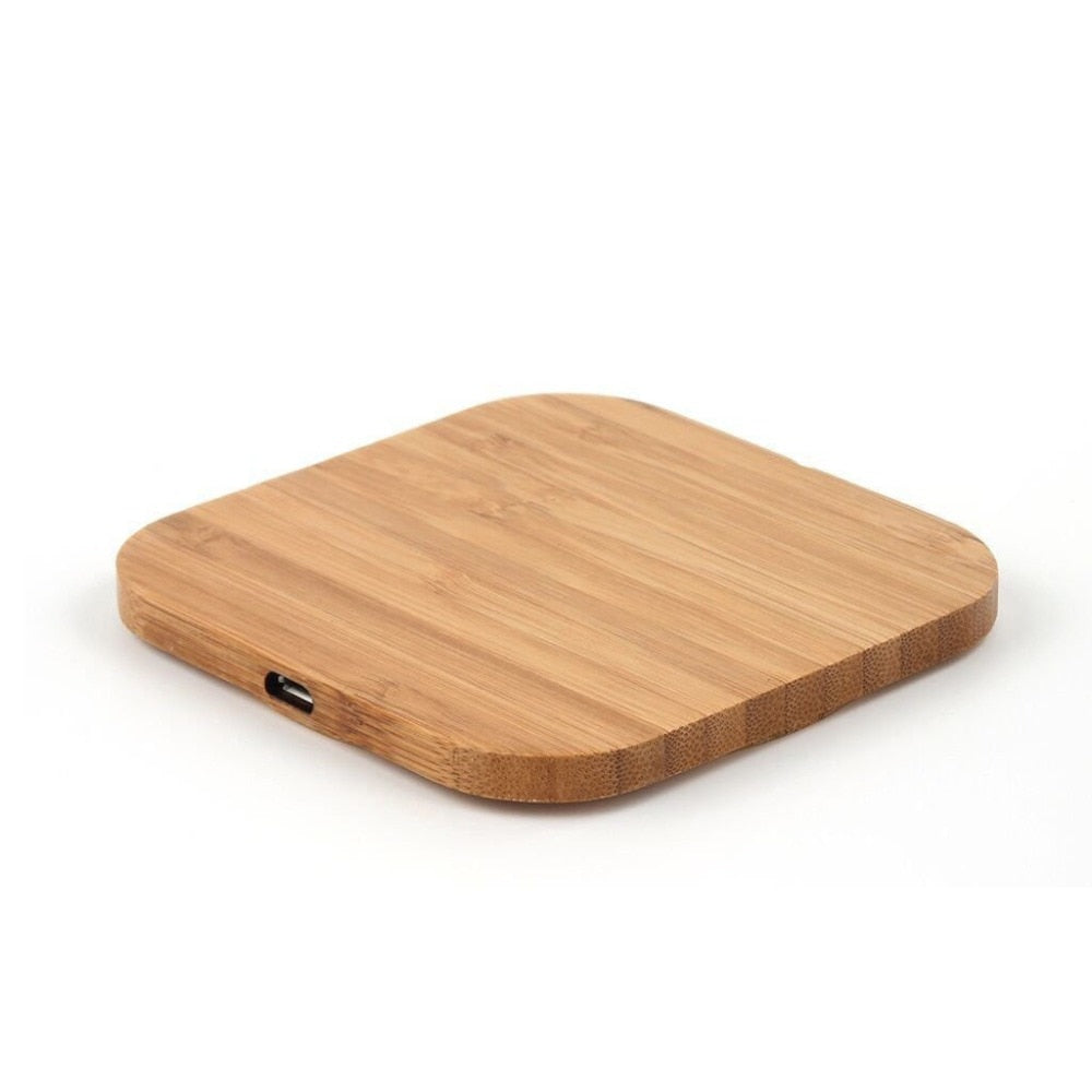 Slim Wooden Wireless Qi Charger