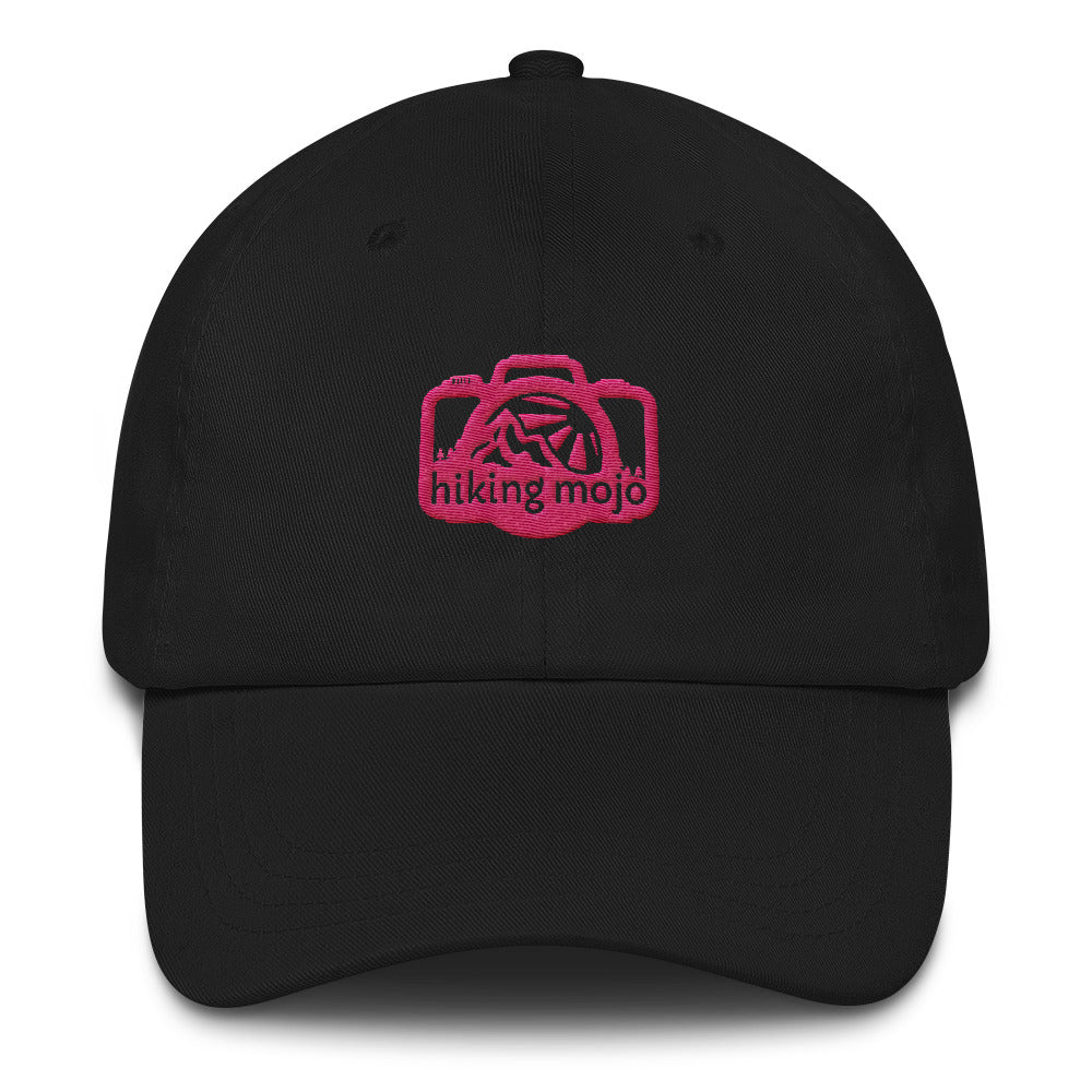 Low-Profile Baseball Cap - Pink Logo