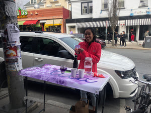 Lila Tea sampling on Thayer St in Providence, RI