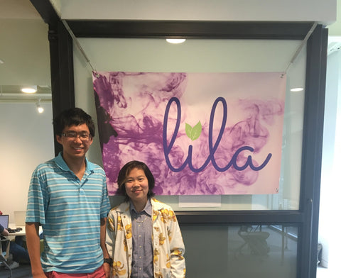 Dan and Victoria in front of Lila's coworking space