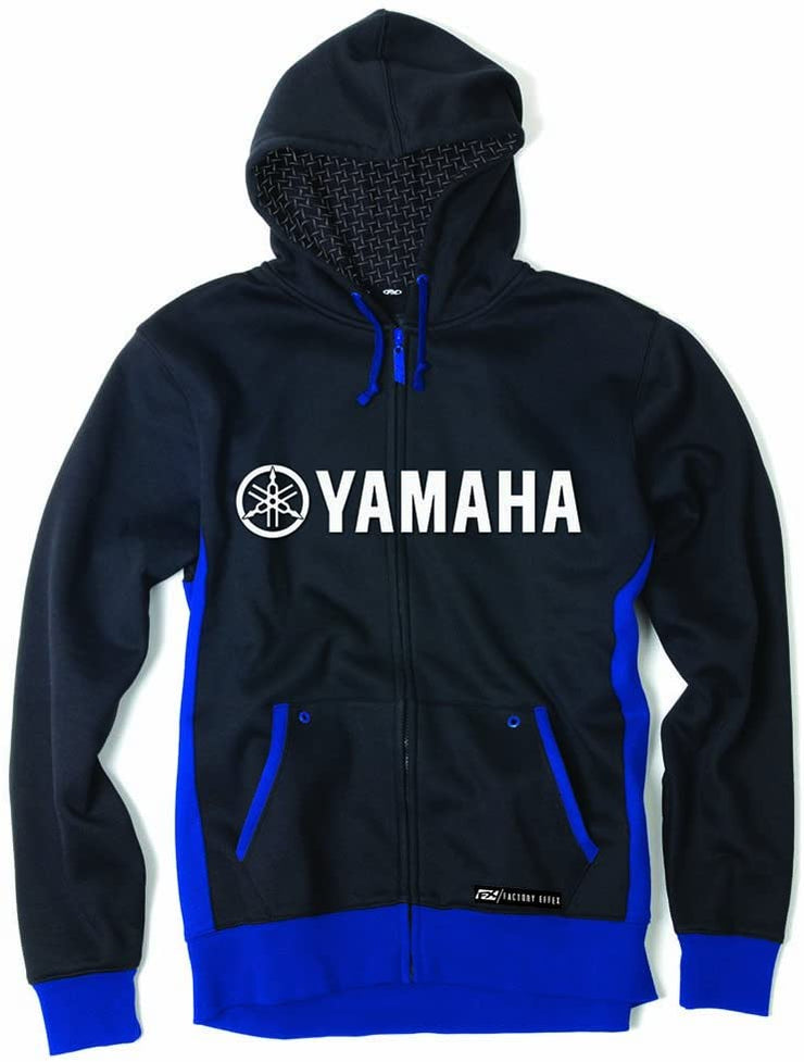 Factory Effex 'Yamaha' Lined Hooded Zip-Up Sweatshirt Black/Blue