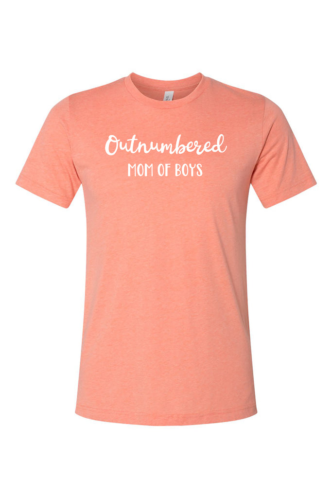 Outnumbered Mom of Boys Tee