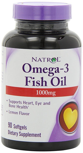 Omega-3 Fish Oil, 1000mg - 90 softgels