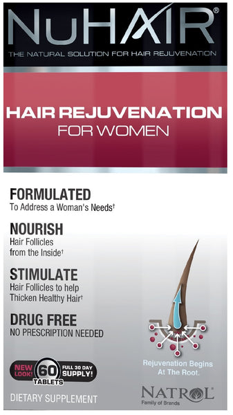 NuHair Hair Rejuvenation for Women - 60 tablets