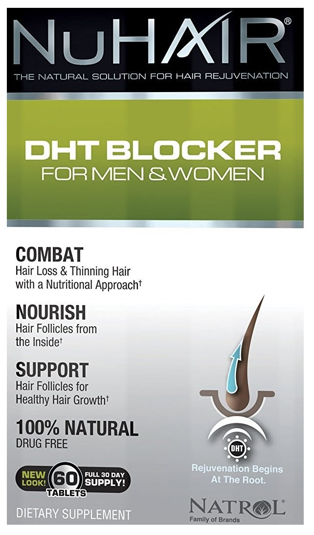 NuHair DHT Blocker for Men & Women - 60 tablets