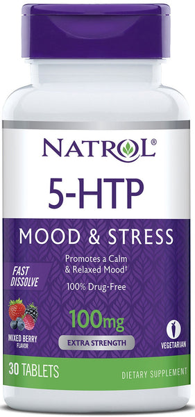 5-HTP Fast Dissolve 100mg - 30 tablets