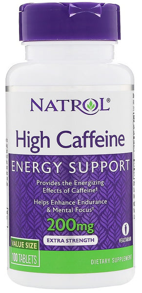 High Caffeine, 200mg - 100 tablets