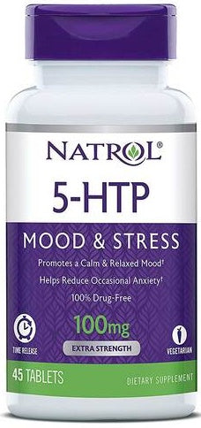 5-HTP Time Release, 100mg - 45 tablets
