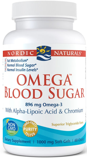 Omega Blood Sugar, 896mg - 60 softgels