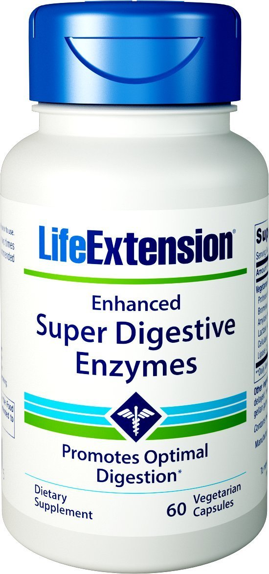 Enhanced Super Digestive Enzymes - 60 vcaps