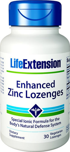Enhanced Zinc Lozenges - 30 vegetarian lozenges