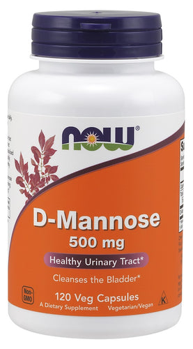 D-Mannose, 500mg - 120 vcaps