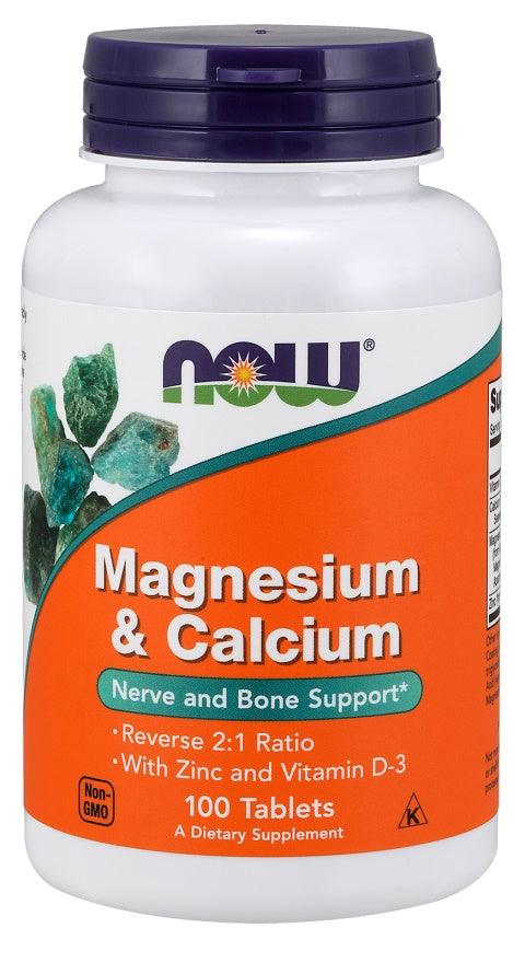 Magnesium & Calcium with Zinc and Vitamin D3 - 100 tablets