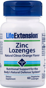 Zinc Lozenges, Natural Citrus-Orange - 60 vegetarian lozenges