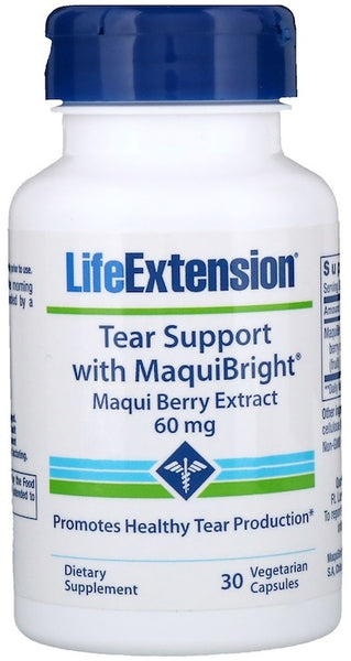 Tear Support with MaquiBright (Maqui Berry Extract), 60mg - 30 vcaps