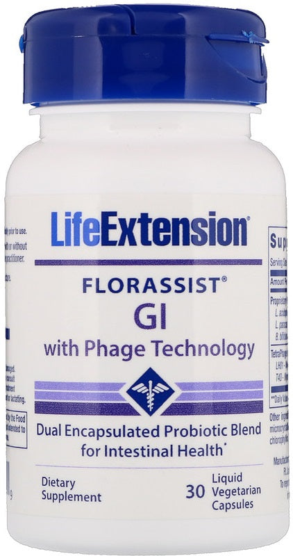 Florassist GI with Phage Technology - 30 liquid vcaps