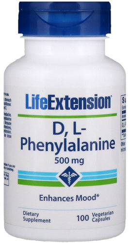 D L-Phenylalanine, 500mg - 100 vcaps