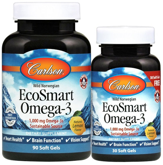 EcoSmart Omega-3, Natural Lemon - 90 +30 softgels