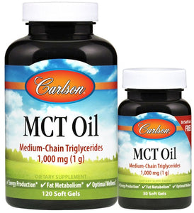 MCT Oil, 1000mg - 120 + 30 softgels