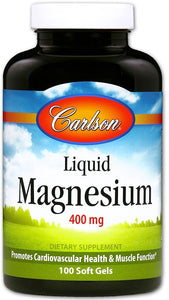 Magnesium Gels, 400mg - 100 softgels