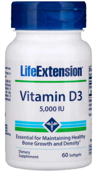 Vitamin D3, 5000 IU - 60 softgels