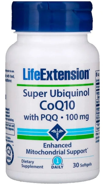 Super Ubiquinol CoQ10 with PQQ, 100 mg - 30 softgels
